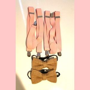 Other - Hemp Bow Ties With suspenders